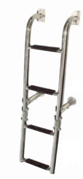Сгъваема стълба от неръждаема стомана 4 стъпала
