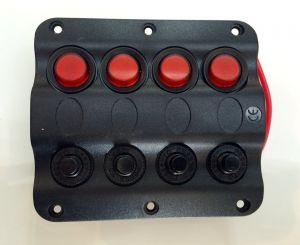 Ел. Панел 4 бутона автоматичен 110 х 100 мм 12V