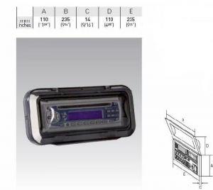 Капак за CD радио 110х 235 мм,прозрачен,опушен
