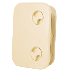 Капак за люк, входен 17,3 х 53см - бял